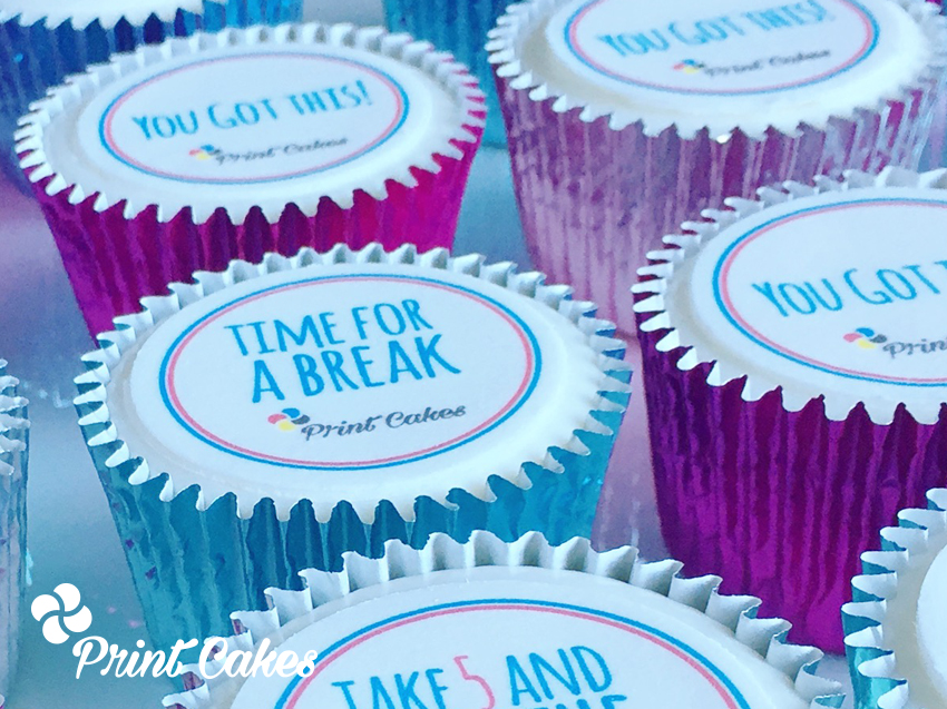 mental health awareness branded cupcakes