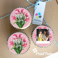 personalised mother's day cupcake gift box