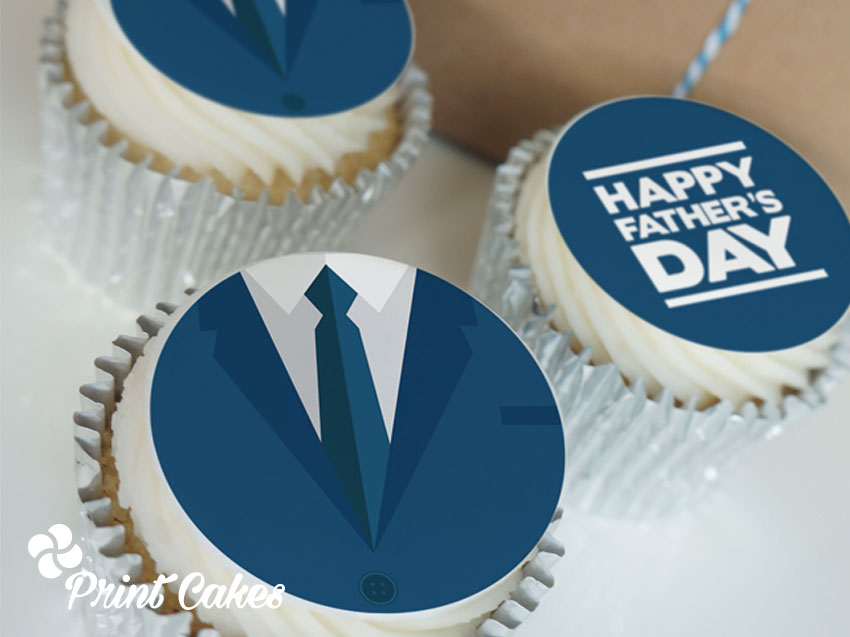 fathers day branded cupcake gift box