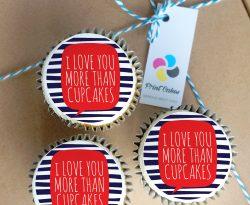 love you buttercream cupcake gift box