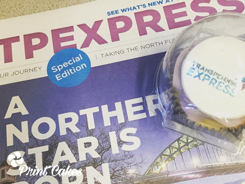 transpennine express branded logo cupcakes uk delivery