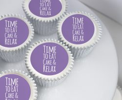 Birthday cupcake gift box with printed message