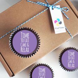 Chocolate birthday message cupcake gift box