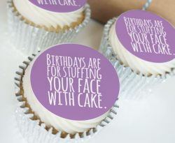 Buttercream cupcake gift boxes for birthdays with uk delivery.