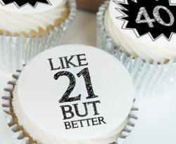 40th Birthday Cupcake Gift Box