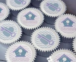 New Home Personalised Cupcake gift box. UK delivery