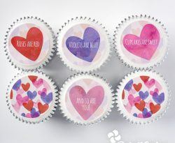 personalised Valentine's Day cupcake gift box. uk delivery