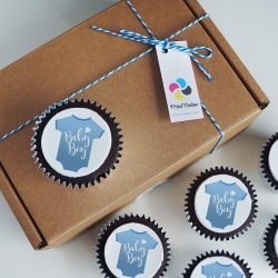 baby boy cupcake gift box. uk delivery
