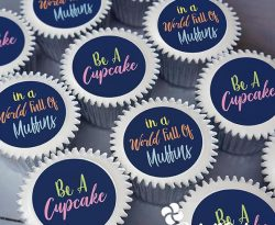 personalised just for fun cupcake gift box. uk delivery