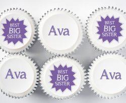 big sister cupcake gift box uk delivery