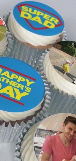 buttercream photo personalised fathers day cupcake gift box