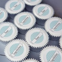 personalised congratulations cupcake gift box. uk delivery