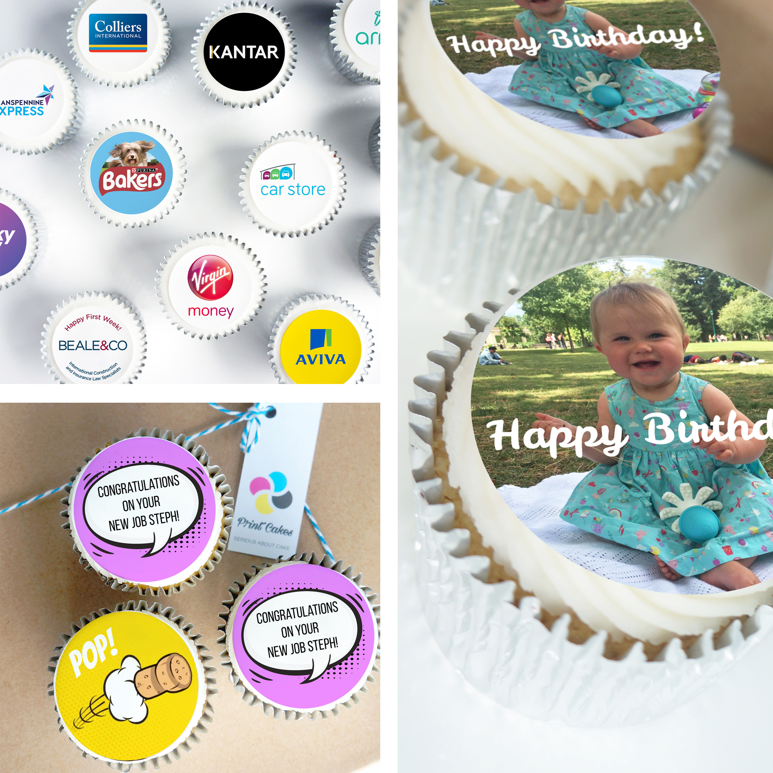 edible logo and photo cupcakes uk delivery