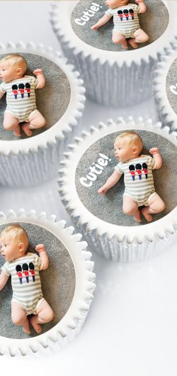cupcake gifts with edible photos with UK delivery