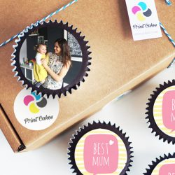 Add edible photos, images and messages to your personalised cupcakes. UK delivery.