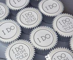 personalised wedding cupcake gift box. uk delivery