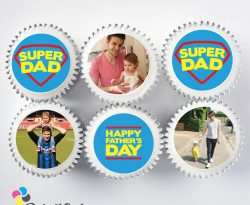 fathers day cupcake gift box. uk delivery