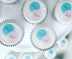 gender_reveal_cupcake gift box. Uk delivery