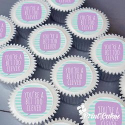 personalised graduation cupcake gift box. uk delivery