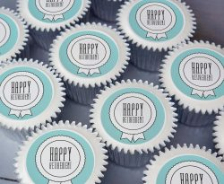 retirement cupcake gift box. uk delivery