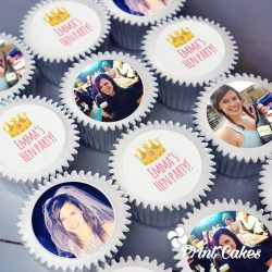 photo hen party cupcake gift box. uk delivery