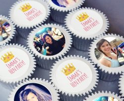 personalised hen party cupcake gift box