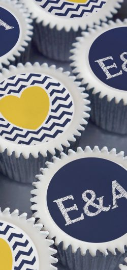 initial heart engagement wedding cupcake gift box uk delivery