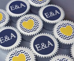 initial heart engagement wedding cupcake gift box