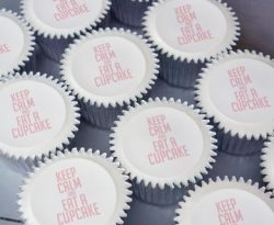 keep calm and eat a cupcake gift box