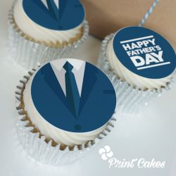 buttercream fathers day suit cupcake gift box