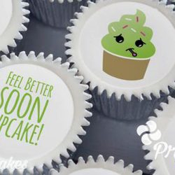 personalised get well soon cupcake gift box. uk delivery