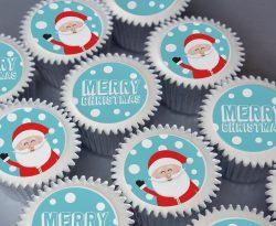 merry christmas cupcake gift box