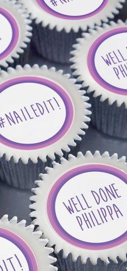nailed it personalised congratulations cupcake gift box
