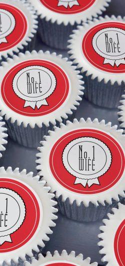no 1 wife love cupcake gift box valentines day