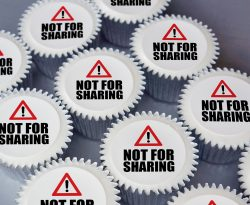 not for sharing cupcake gift box just for fun