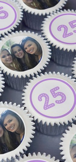 personalised photo and number cupcake gift box uk delivery