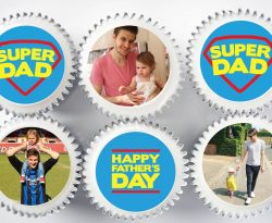 personalised photo fathers day cupcake gift box