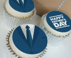 fathers day suit buttercream cupcake gift box