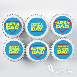 super dad fathers day cupcake gift box