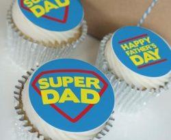 super dad buttercream cupcake gift box