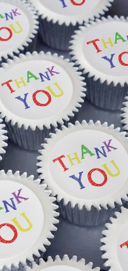 thank you cupcake gift box