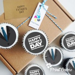 father's day cupcake gift box. uk delivery