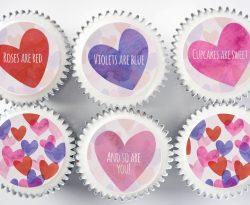 valentines day cupcake gift box