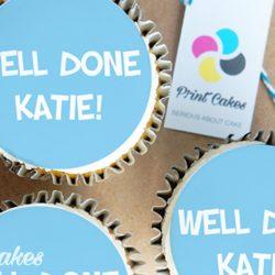 well done congratulations buttercream cupcake gift box