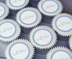 well done cupcake gidft box. uk delivery