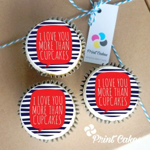 Valentines love you more cupcake gift box