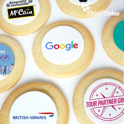 branded logo biscuits